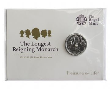 £20 2015 Longest Reign Brilliant Uncirculated Pack